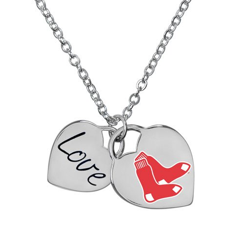 Game Time 101574 MLB Boston Red Sox Heart Necklace (Stainless Mlb Steel Necklace)