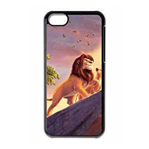 Lion King iPhone 5c Black Cell Phone Case GSZWLW0664 Cell Phone Case Active