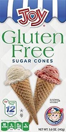 Joy sin gluten conos de helado Azúcar, 5 oz, 12 ct (Pack de ...