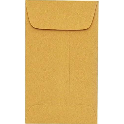 #00 Coin Envelopes (1 11/16 x 2 3/4) - 24lb. Brown Kraft (250 Qty.)