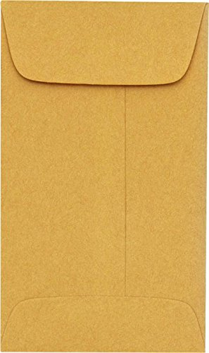 #3 Coin Envelopes (2 1/2 x 4 1/4) - 24lb. Brown Kraft (50 Qty.) | Perfect for storing Small Parts, Coins, Jewelry, Stamps, Seeds, Small Electronic Parts and so much more! | 94755-50 Envelopes.com