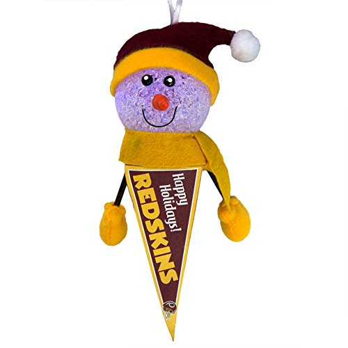 NFL Washington Redskins - Light-Up Snowman Pennant Ornament