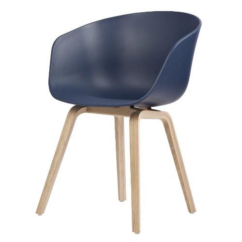 Hay About A Chair 22 Armlehnstuhl Colour Blau Gestell Eiche