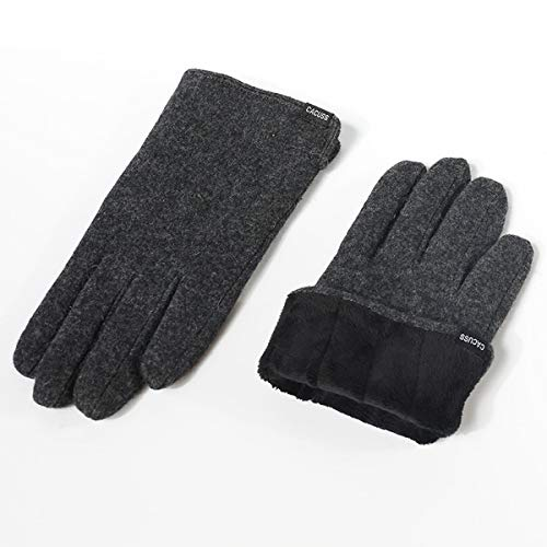CACUSS Gloves Women Autumn and Winter Knit Gloves for Women Warm Touch Screen Gloves Wear-resistant Cycling Travel Windproof Finger Gloves Ladies (Dark gray) by CACUSS (Image #5)