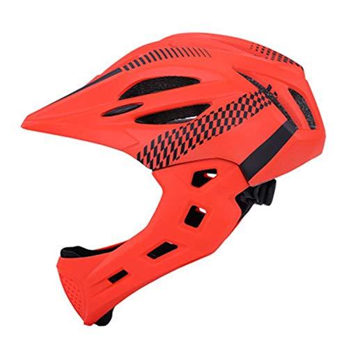Matedepreso Bicycle Helmet Full Face Detachable Bike Helmet Mountain Road Bicycle Helmet Children Riding Helmet