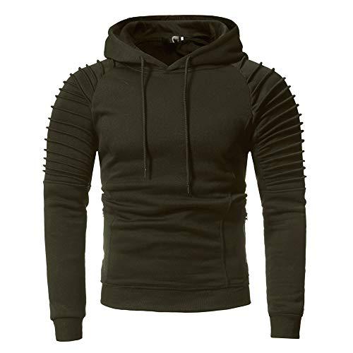 Sumen Men Long Sleeve Soild Color Casual Sweatshirt Hoodie Tracksuit Top Coat by Sumen Men