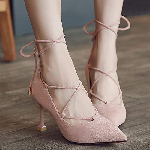 Altos de La alto con tacón Gris Zapatos De De De Pink Punta Gradiente Tacones De con Cristal 38 Boda Yukun Punta De Boda De Plata Zapatos Lentejuelas Mujer Zapatos zapatos XxvqHw5