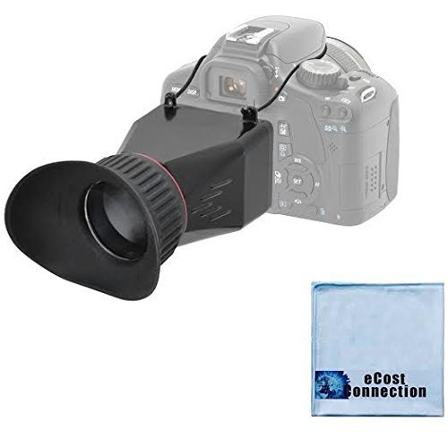 eCostConnection Elite Series 3.4x Magnification Adjustable Lock-In-Place LCD Viewfinder Fits Most 3
