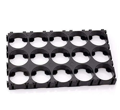 Baimeixun 20pcs 3x5 Cell Spacer 18650 Lithium Battery Plastic Holder Bracket