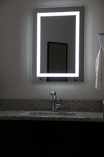 large illuminated bathroom mirror lighted image led bordered illuminated mirror large 19095