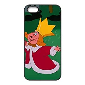 iPhone 5,5S Phone Ceses Black Alice in Wonderland The King of Hearts XF5879269