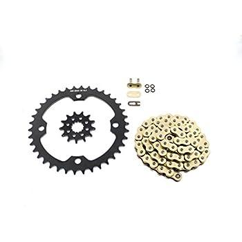 2012 2013 Yamaha YFZ450 YFZ 450 Gold O-Ring Chain /& Black Sprocket 12//40 100L