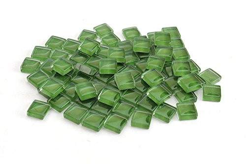 Glass Crystal Mosaic - Milltown Merchants 4/10 Inch (10mm) Green Crystal Glass Mosaic Tile, 3 Pound (48 oz) Bulk Assortment of Mosaic Tiles