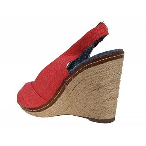 Zapatos de cuña de Mujer REFRESH 62041 JEANS ROJO