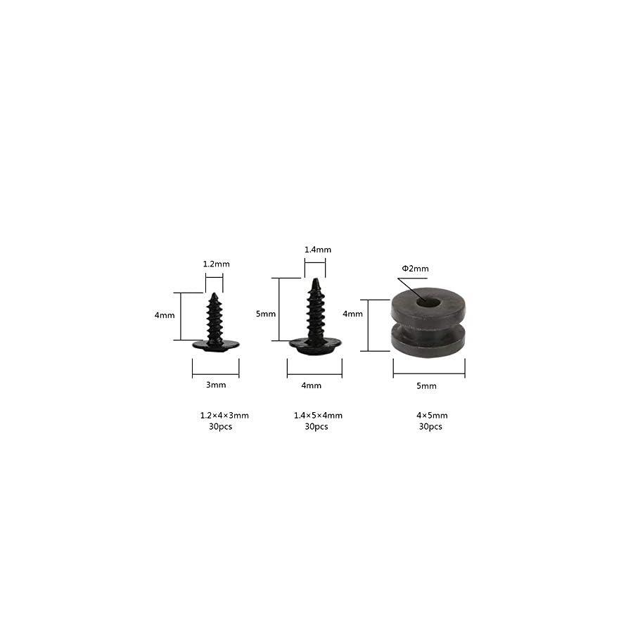 Racingirl NIDICI 90pcs Screw Rubber Damper Set M1.2×4 Screw M1.4×5 Screw M2 Rubber Damper for Tiny Whoop Blade Inductrix