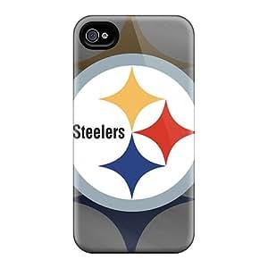 JamieBratt Iphone 4/4s Scratch Resistant Hard Phone Case Provide Private Custom Lifelike Pittsburgh Steelers Pictures [eyS12580Otgz]