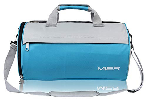 MIER Barrel Travel Sports Bag for Women and Men Small Gym Bag with Shoes  Compartment 19.7 5cb888be66123