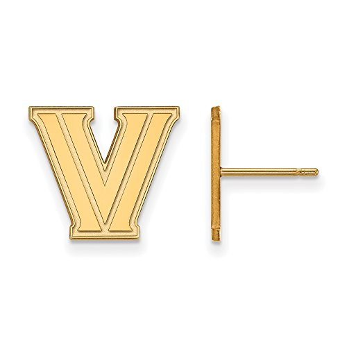 Villanova Small (1/2 Inch) Post Earrings (10k Yellow Gold) by LogoArt