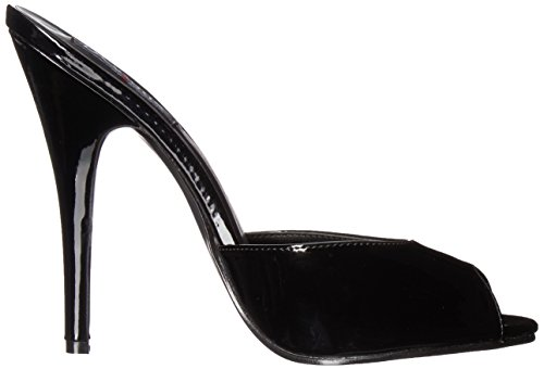 Toe Devious B Black Black Women's Dom101 Pumps Open RSqrIpwq