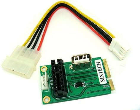 Amazon.com: Tarjeta PCIe PCI Express 1 X O USB a Mini PCI-E ...