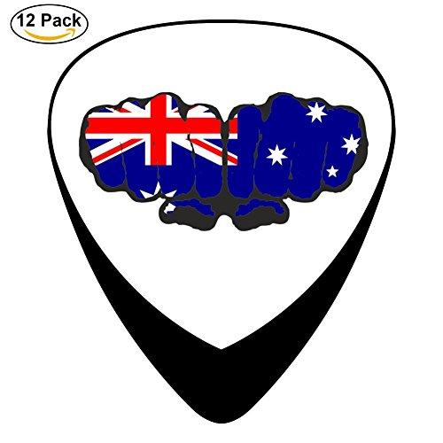 Australia Football Soccer Team Guitar Picks - 12 pack Celluloid Plectrums for Guitar Bass ()