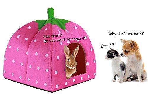 Hosaire Conejo Perro Gato Cama para Mascotas pequeño Animal Grande Snuggle Puppy Suministros Interior Camas Resistentes al Agua Size S (Púrpura): Amazon.es: ...