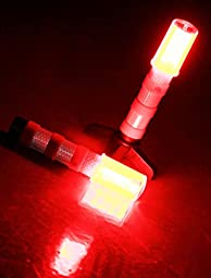 Awyio Portable Safety Warning Flashing Emergency Road Flares 2 Roadside Stands with Storage Case for Car or Camping,Batteries Replaceable,Red