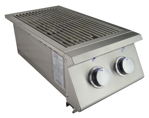 RCS Gas Grills Premier Slide-in Double Side Burner with Blue LED Light - NG