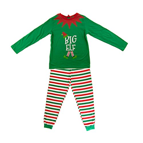 Green Made By Elves Little Elf Pyjamas PJs Child Size 9-10 Years ()