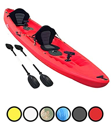 c96a79d75 Bluefin Tandem 2+1 Sit On Top Fishing Kayak| With Rod Holders, Storage  Hatches, Padded Seat & Paddle ... (Red): Amazon.co.uk: Sports & Outdoors