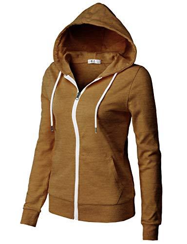 H2H Womens Active Slim Fit Zip up Long Sleeve Hoodie Jacket