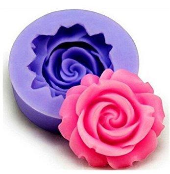 Vi.yo - Moldes para tartas con diseño de rosas para fondant, Silicona para uso alimenticio, rosa (b), 3.8*.38*1.6cm: Amazon.es: Hogar