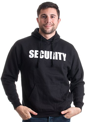 SECURITY | Security Guard Fleece Hoody, Glow in the Dark Hooded Sweatshirt