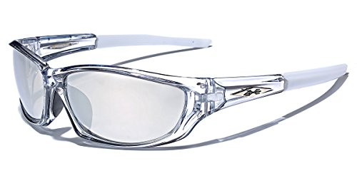 afb681b9b2 X-Loop Men s Frosted Clear Frame Colorful Wrap Around Baseball ...