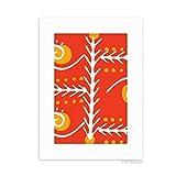 DIYthinker Orange Line Mexico Totems Ancient Civilization Desktop Photo Frame Picture White Art Painting 5x7 inch