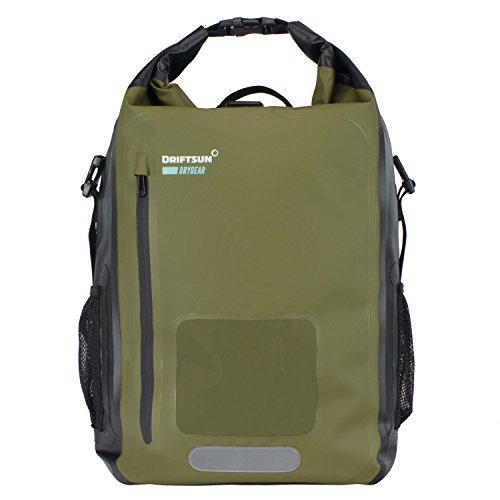 Driftsun Roll-Top Dry Bag Backpack   20L 40L   Heavy Duty Quality   100% Waterproof Backpack (20L)