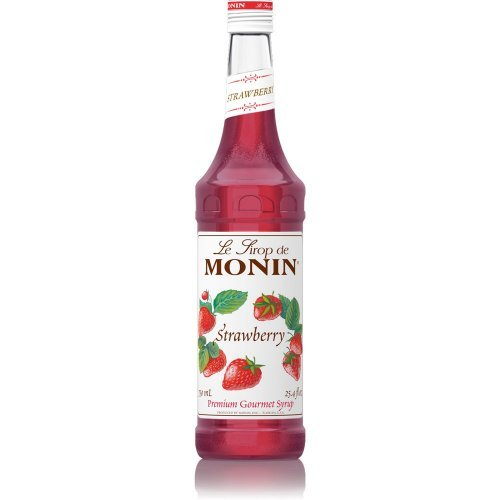 Monin Strawberry Syrup 750ml (25.4oz) (Strawberry Drink Syrup)