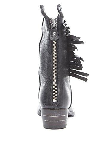 MOMA - Botas de Cuero para mujer Gris gris oscuro gris oscuro