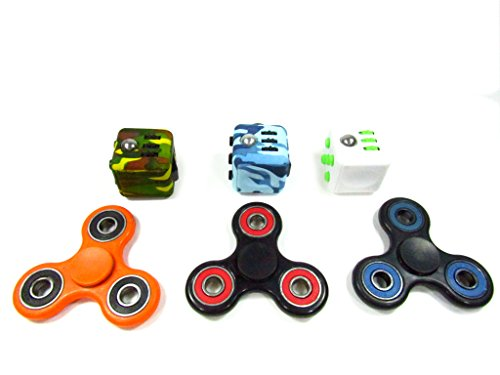 Oliasports Anxiety Attention Toy Spinner Fidget Cube for Children and Adults, 1 Piece, Black Green - 2