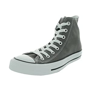 Converse Chuck Taylor All Star Canvas High Top Sneaker, Charcoal, 8.5 US Men/10.5 US Women