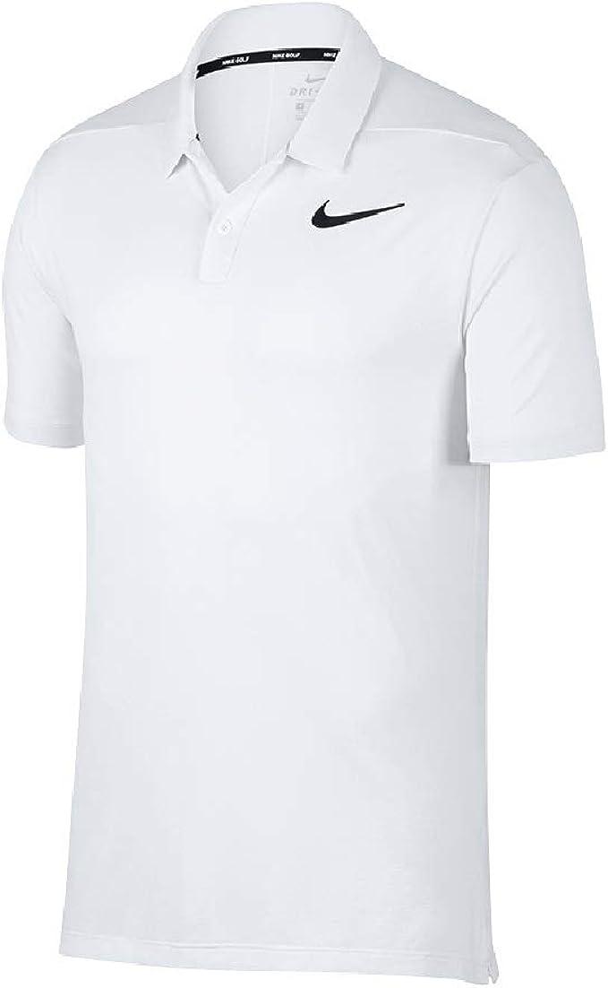 Nike - Polo Transpirable para Hombre (2XL) (Blanco/Plata): Amazon ...