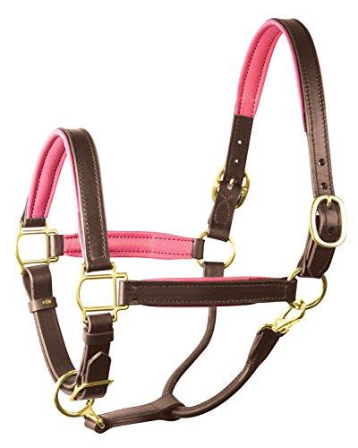 - Perri's Padded Leather Halter Pony Havana/Pink Padded Halter, Havana Pink