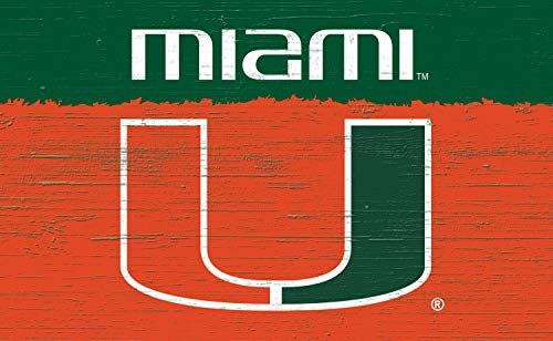Collegiate Wood Hanging Sign, Miami Hurricanes (Miami Sign Hurricanes)