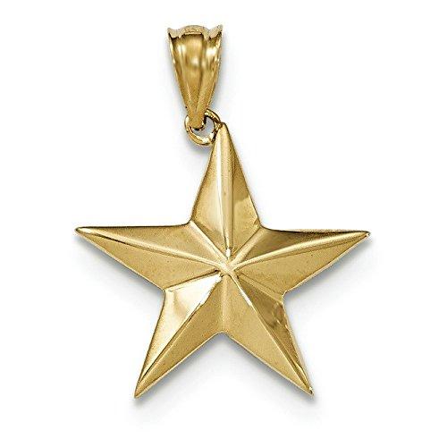 Poli 14 carats-Pendentif étoile JewelryWeb