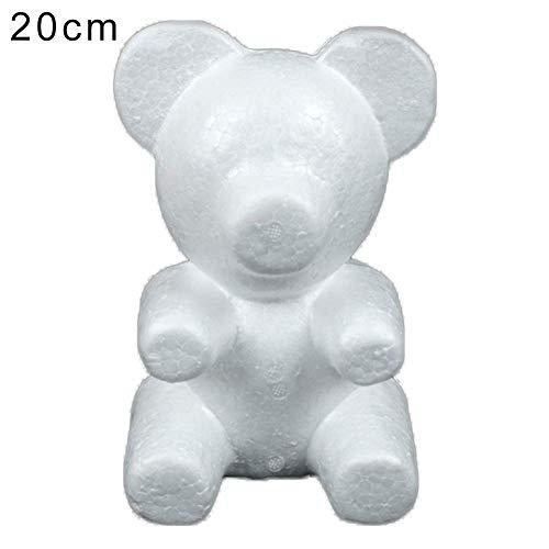 BaoST Creative 3D Teddy Bear Modeling Foam Bear DIY Craft Polystyrene Styrofoam Cartoon Doll Shape Model for Valentine's Day Party Decoration Lover Gift Doll Making White Big