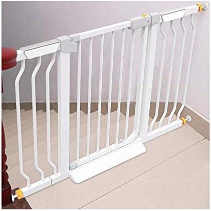 KSWD Metálica Barrera de Seguridad para niños, 68-75cm, 76-83cm Niños Mascotas Bebé Puerta de la Escalera para Puertas Escaleras Sin taladrar Extensible Blanco,S: Amazon.es: Hogar