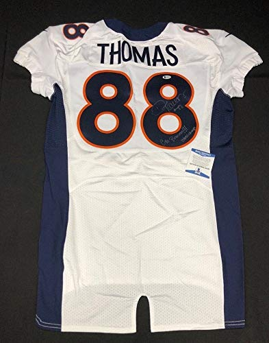- Demaryius Thomas Autographed Signed Denver Broncos On Field Football 'Game Jersey (Size XL)' Bas 49463