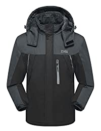 ZSHOW Men's Waterproof Fleece Mountain Ski Jacket