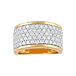 Giantti Evening Wear Women's 14KT Diamond Ring - IGL Certified ( 1.407 Ct, I1 Clarity, GH-Colour)