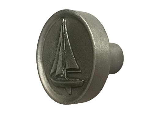 Pewter Sailboat Kitchen Cabinet (Pewter Sailboat)